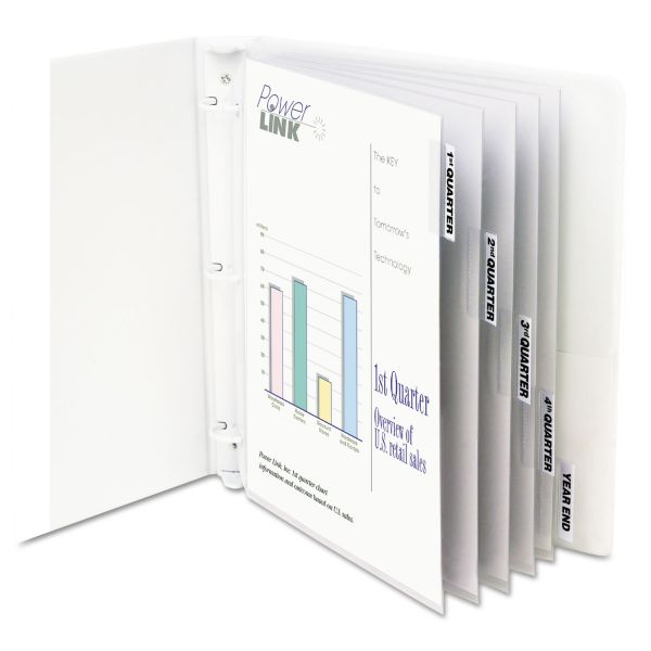 "C-Line Sheet Protectors with Index Tabs, Heavy, Clear Tabs, 2"", 11 x 8 1/2, 5/ST"