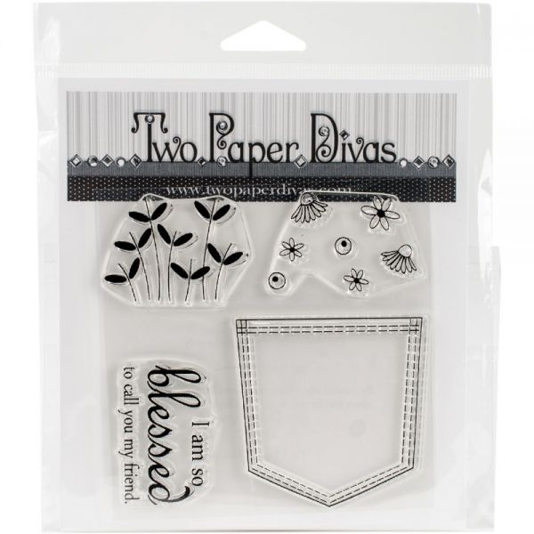 "Two Paper Divas Clear Stamps 6""X4.5"""