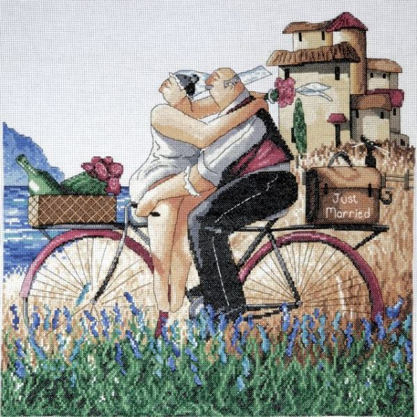 Just Married Counted Cross Stitch Kit