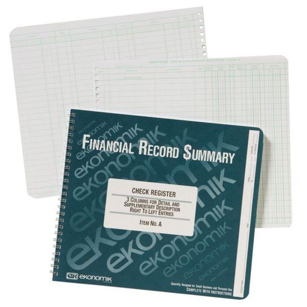 Ekonomik Check / Deposit Register