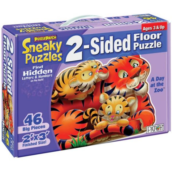 "2-Sided Sneaky Floor Puzzle 46pcs 24""X36"""