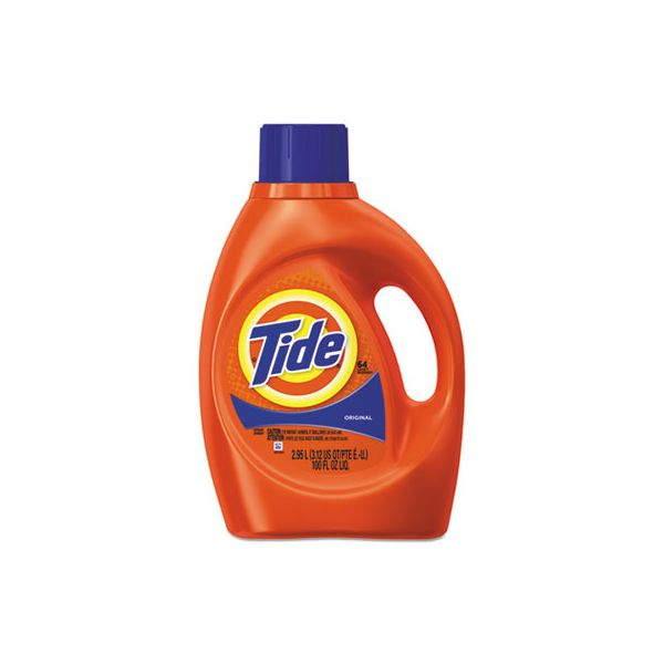 Tide Ultra Liquid Laundry Detergent, Original Scent, 3.1 qt. Bottle, 4/CT