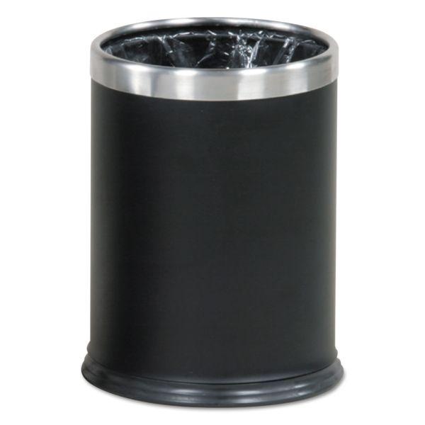 "Rubbermaid Commercial Hide-a-Bag Open Top Wastebasket, 3.5 gal, 9 1/2"" Dia x 12 1/2"" H, Black"
