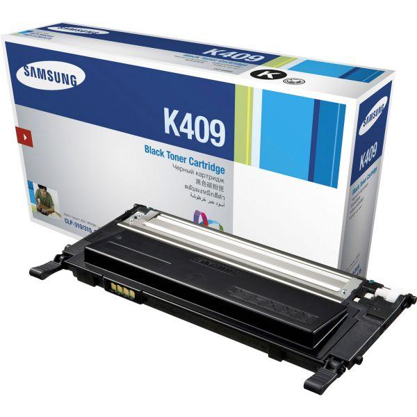 Samsung CLTK409S Toner, 1500 Page-Yield, Black