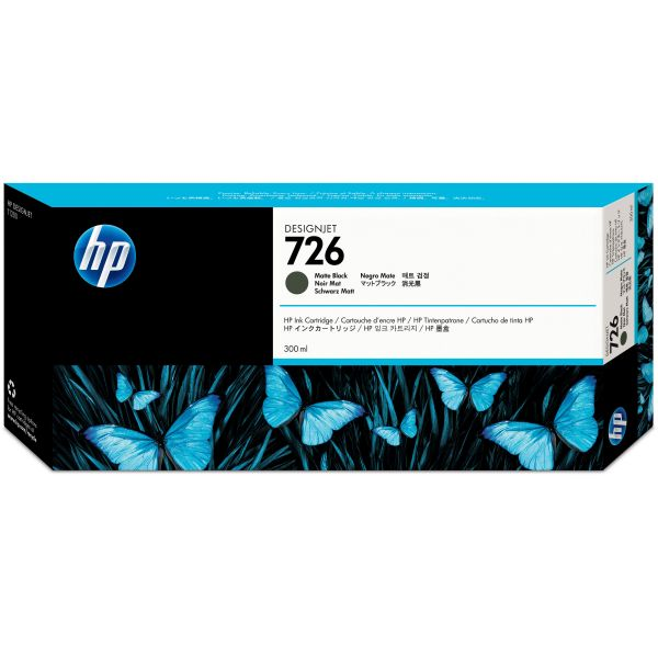 HP 726 Matte Black Ink Cartridge (CH575A)