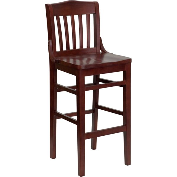 Flash Furniture HERCULES Series School House Back Wooden Barstool