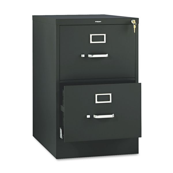 HON 510 Series Two-Drawer, Full-Suspension File, Legal, 29h x25d, Black