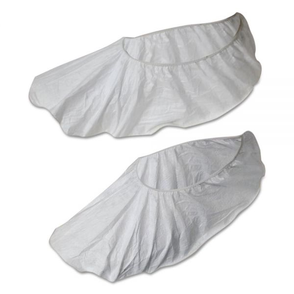 Boardwalk Disposable Shoe Covers, White, Large, 50 Pair/Pack