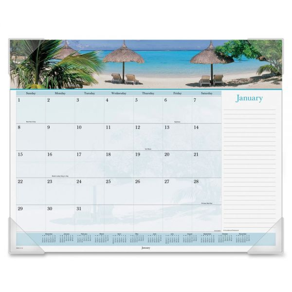 At-A-Glance Images Of The Sea Monthly Desk Pad Calendar