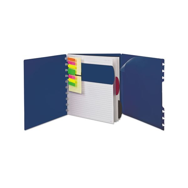 Ampad Versa Crossover Notebook, Legal/Wide, 24 lb, 11 x 8 1/2, Navy, 60 Sheets, 2/Pack