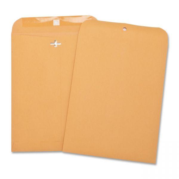 "Business Source Gummed 7"" x 10"" Clasp Envelopes"