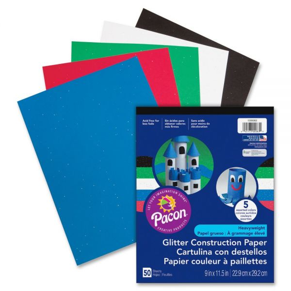 Pacon Glitter Construction Paper