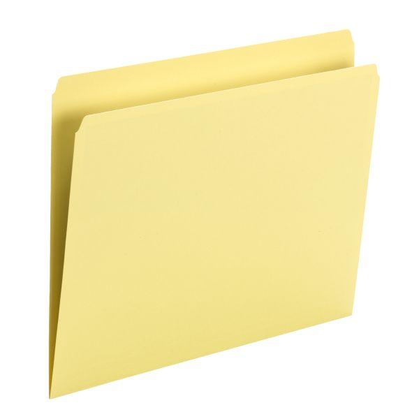 Smead Yellow Colored File Folders