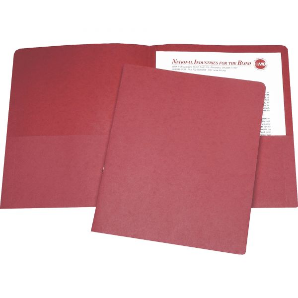 Skilcraft Red Two Pocket Folders