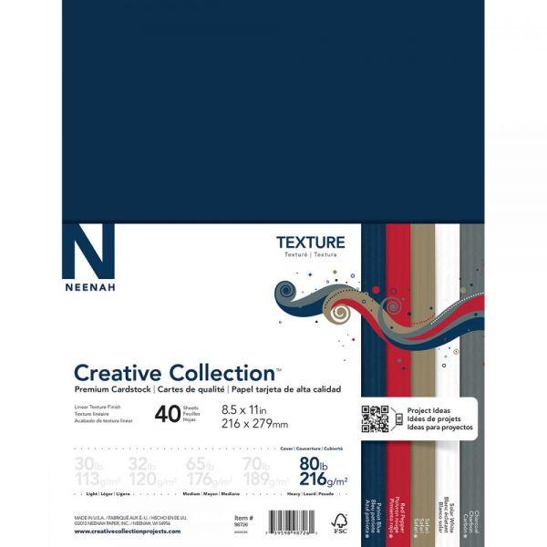 """Neenah Textures Cardstock 8.5""""X11"""" 40/Pkg"""