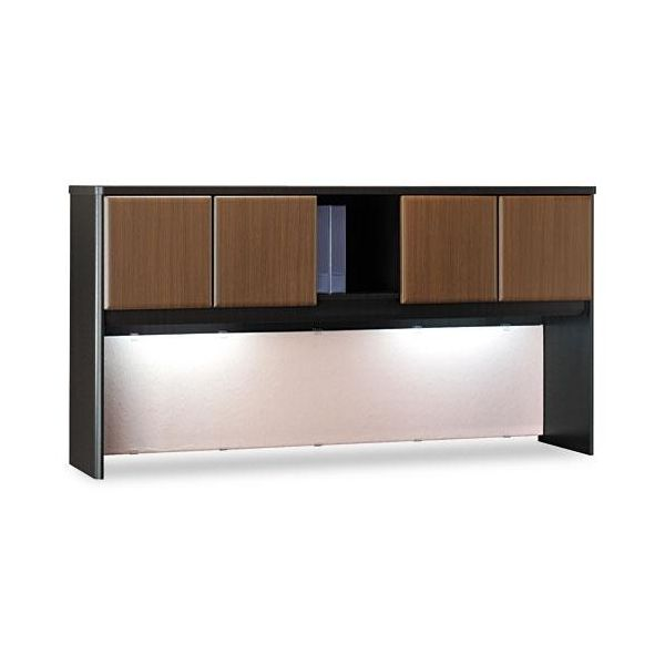 "Bush Furniture 72""W Overhead Series A Sienna Walnut"