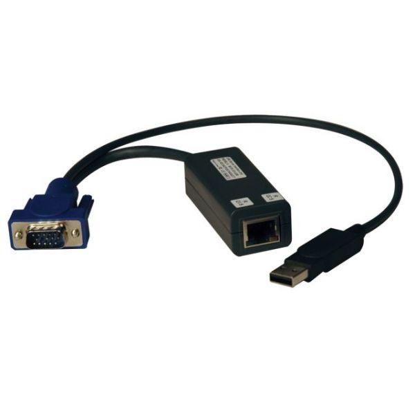 Tripp Lite USB Single Server Interface Unit Virtual Media KVM Switch HD15 USB RJ45