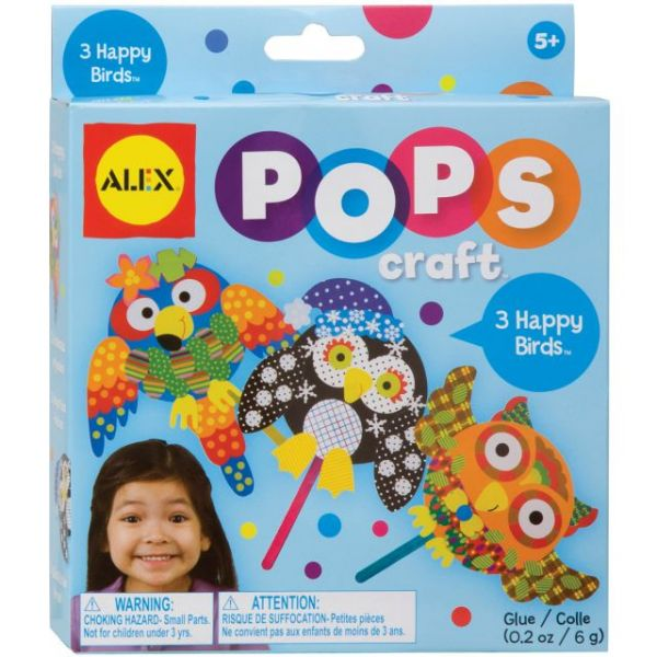 ALEX Toys Pops Craft 3 Happy Birds Kit
