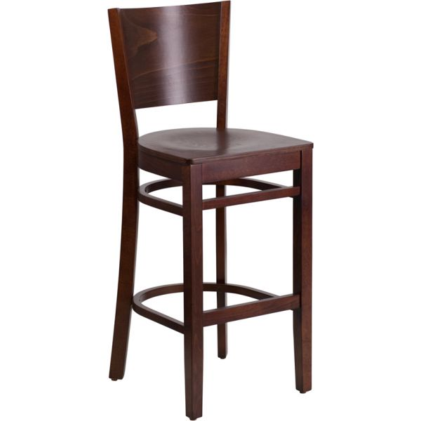 Flash Furniture Lacey Series Solid Back Wooden Barstool