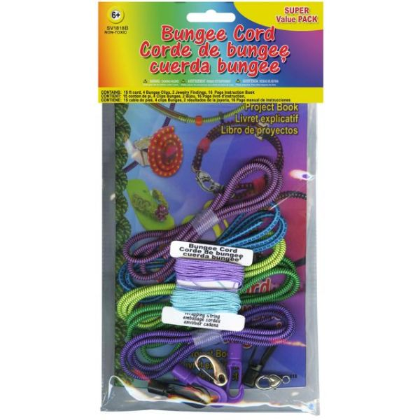 Bungee Cord Super Value Pack 3' 5/Pkg