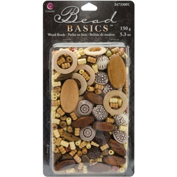 Jewelry Basics Wood Beads 5.3oz