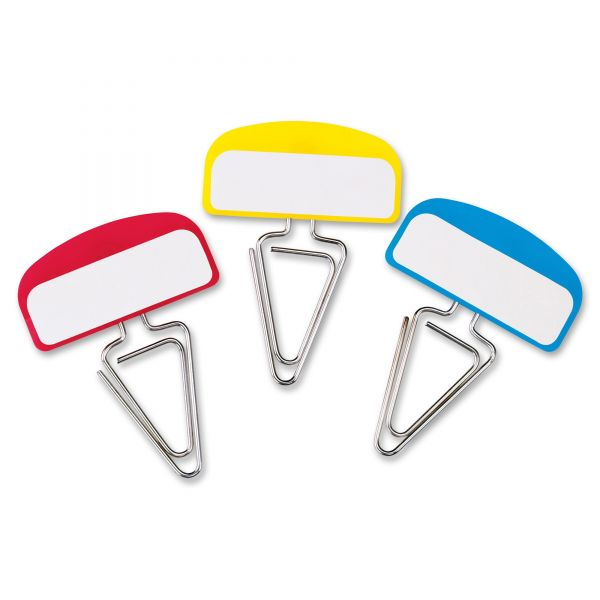 Pendaflex PileSmart Label Clip File Organizers, Blue/Red/Yellow, 12/Pack