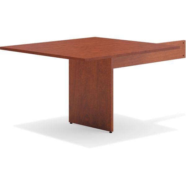"HON basyx by HON Modular Conference Table End | Slab Base | Rectangle End | 48""L"