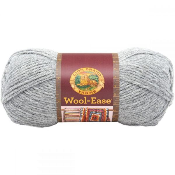 Lion Brand Wool-Ease Yarn - Gray Heather