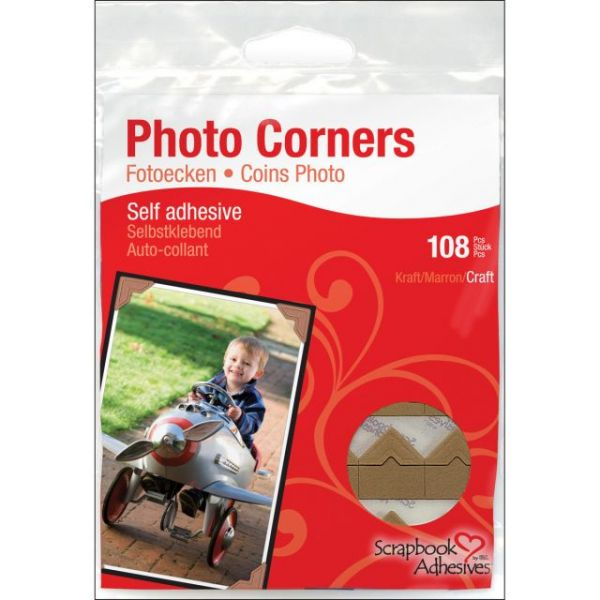 Scrapbook Adhesives Paper Photo Corners Self-Adhesive 108/Pk