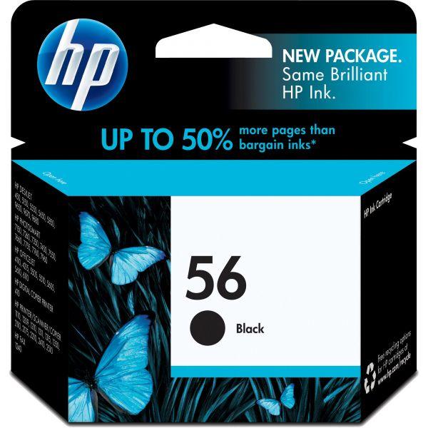 HP 56 Black Ink Cartridge (C6656AN)