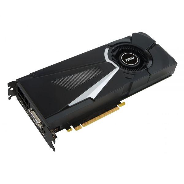MSI AERO GTX 1080 AERO 8G OC GeForce GTX 1080 Graphic Card - 1.63 GHz Core - 1.77 GHz Boost Clock - 8 GB GDDR5X - PCI Express 3.0 x16