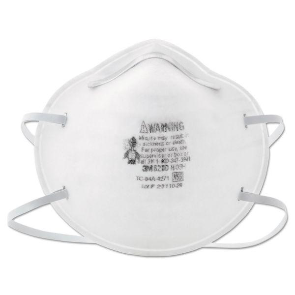 3M N95 Particle Respirator 8200 Mask, 20/Box