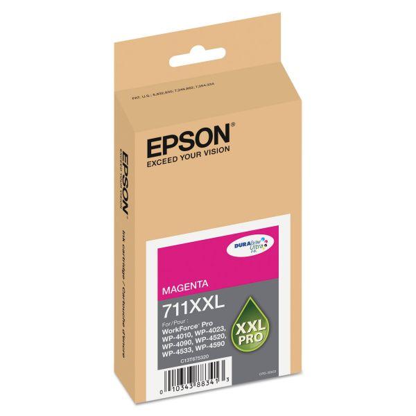 Epson T711XXL320 (711XL) DURABrite Ultra High-Yield Ink, Magenta