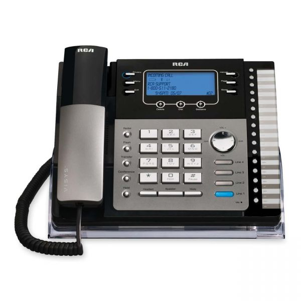 RCA 25424RE1 Standard Phone - Black, Silver
