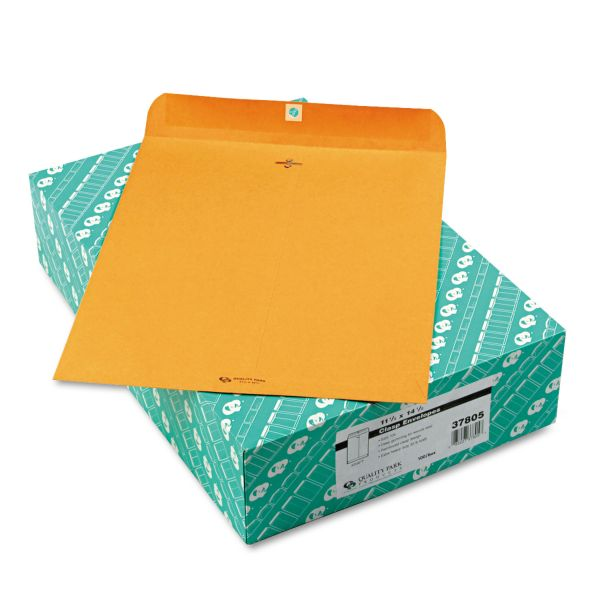 "Quality Park Gummed 11 1/2"" x 14 1/2"" Clasp Envelopes"