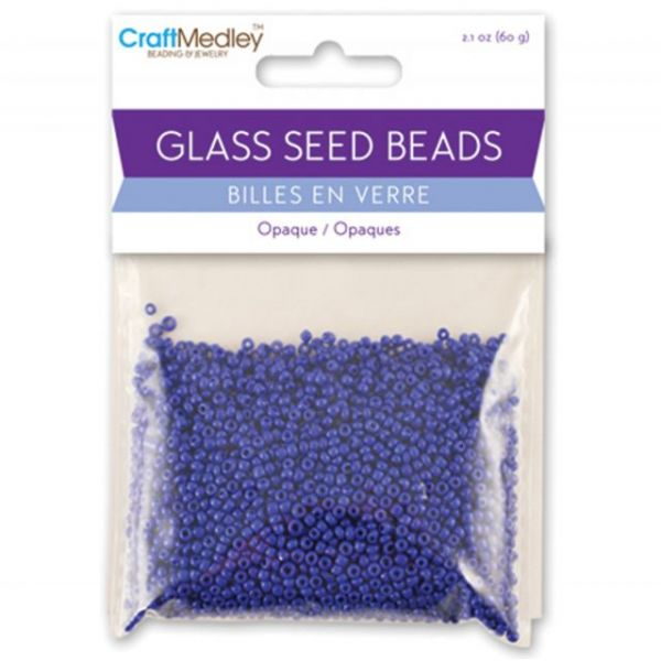 Glass Seed Beads 12/0 Opaque 60g