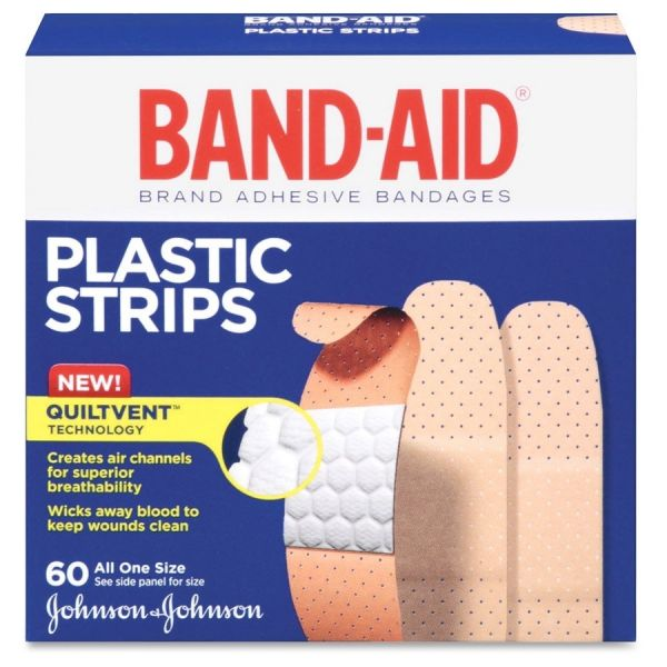 Band-Aid Plastic Strips Adhesive Bandages
