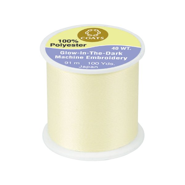 Coats Glow In The Dark Machine Embroidery Thread