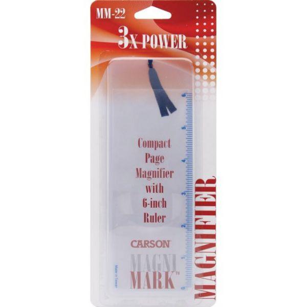 "MagniMark Page Magnifier & Ruler 7.25""X2.25"""