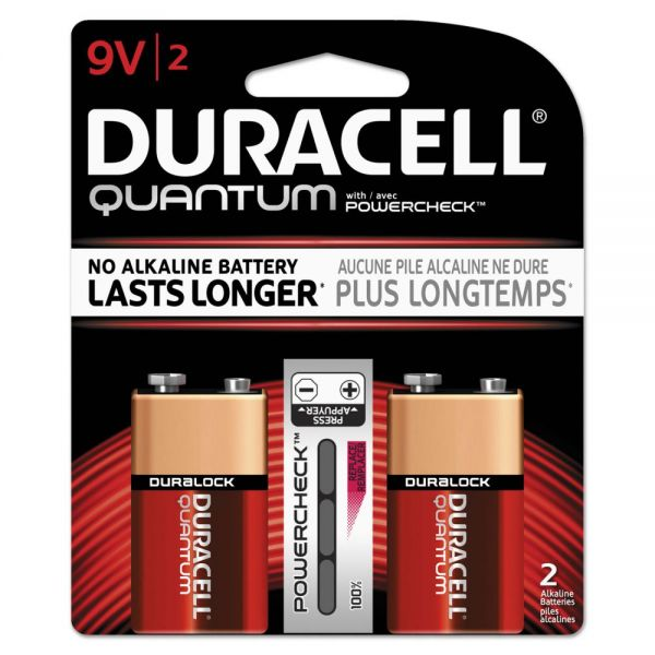Duracell Quantum 9V Batteries with Duralock Power Preserve Tech