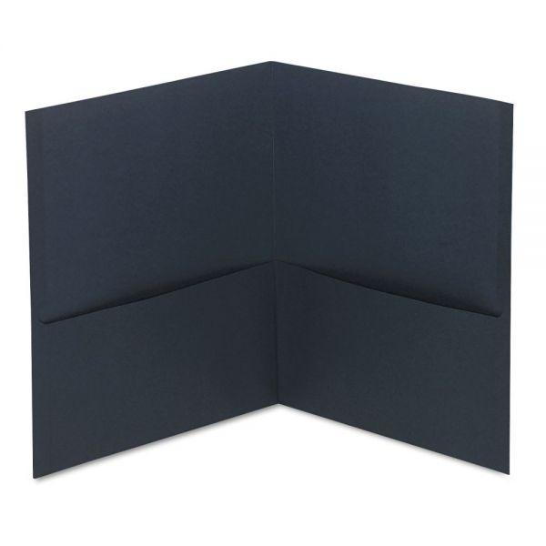 Universal Dark Blue Two Pocket Folders