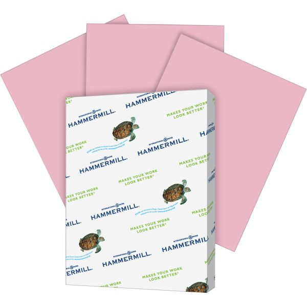 Hammermill Recycled Colored Paper, 20lb, 8 1/2 x 11, Lilac, 500 Sheets/Ream