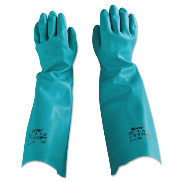AnsellPro Sol-Vex Nitrile Gloves, Size 9