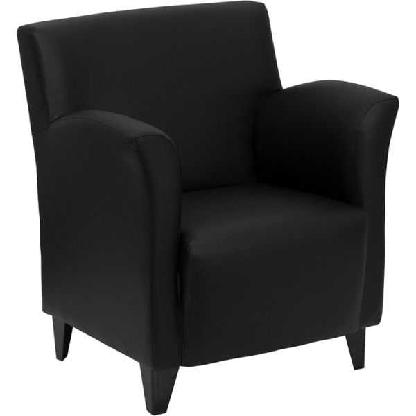 Flash Furniture Roman Series Black Leather Reception Chair [ZB-ROMAN-BLACK-GG]