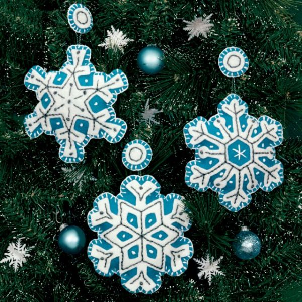 Flurries Ornaments Felt Applique Kit