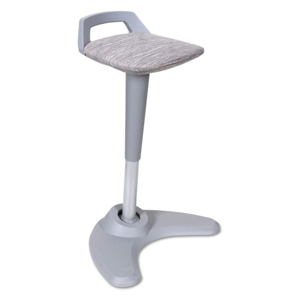 Alera AdaptivErgo Sit to Stand Perch Stool, Gray with Silver Base