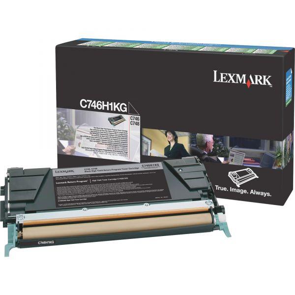 Lexmark C746H1KG Black High Yield Return Program Toner Cartridge