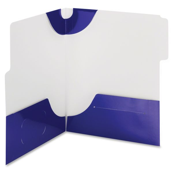 Smead SuperTab Two-Pocket Folder, 11 x 8 1/2, Blue, 5/Pack