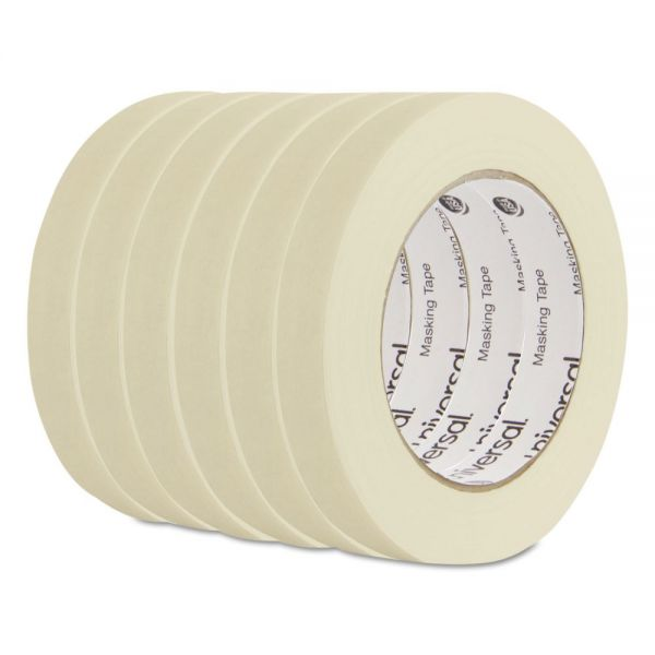 "Universal General Purpose Masking Tape, 18mm x 54.8m, 3"" Core, 6/Pack"