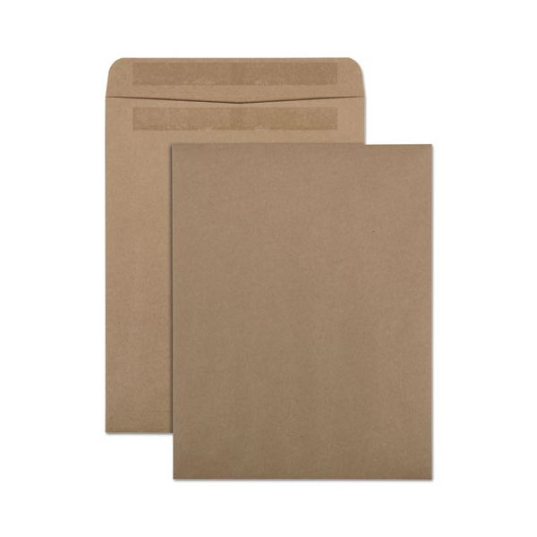 Quality Park 100% Recycled Brown Kraft Redi Seal Envelope, 10 x 13, Brown Kraft, 100/Box